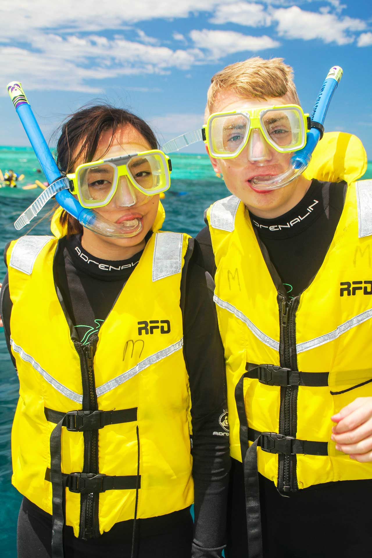 Leonie and Mattias looking utterly fashionable at the Great Barrier Reef