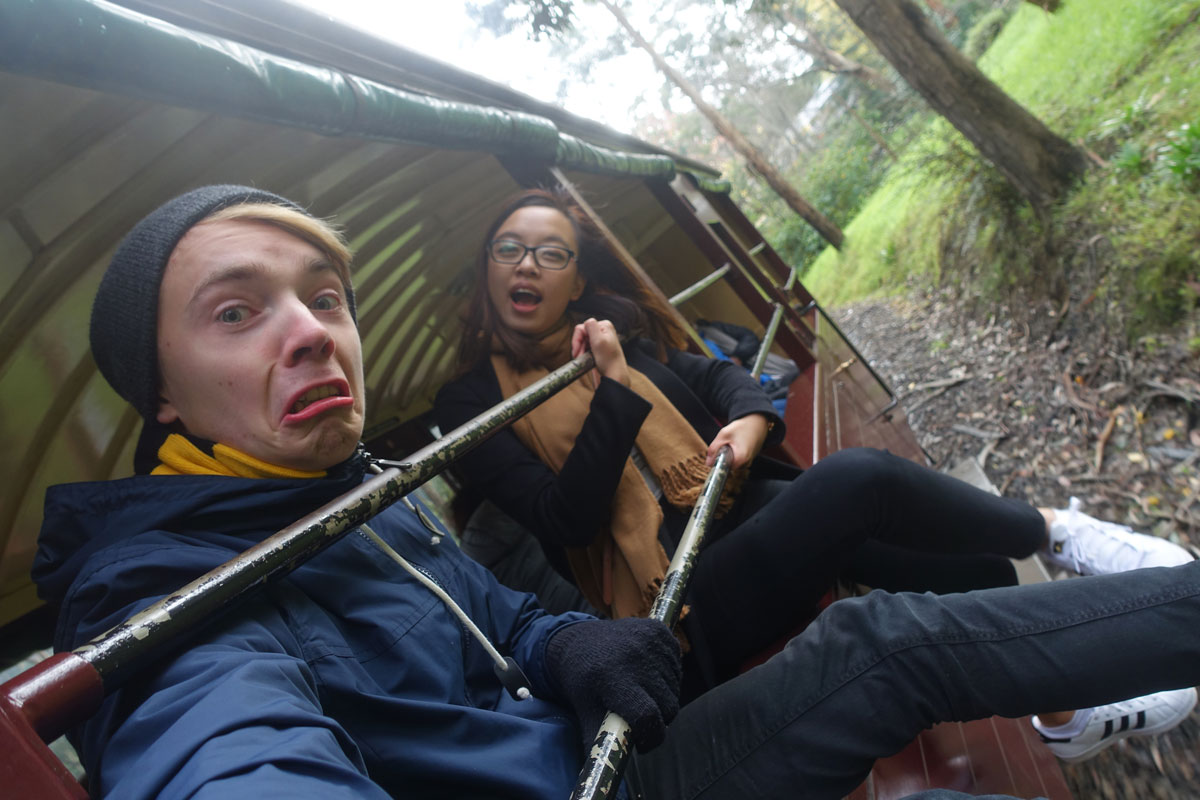 All aboard the Puffing Billy Railway Train!