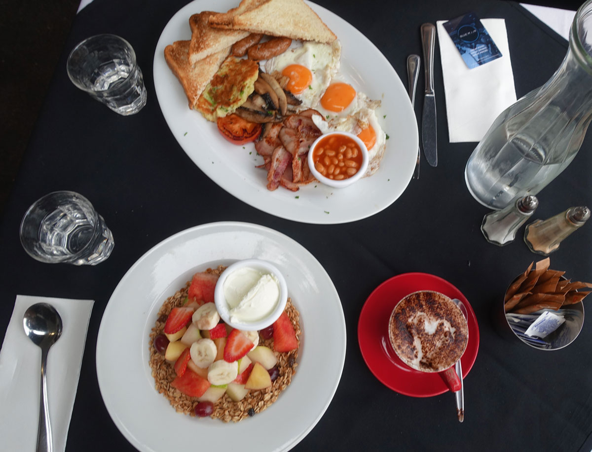 Our first breakfast in Melbourne at La Notte
