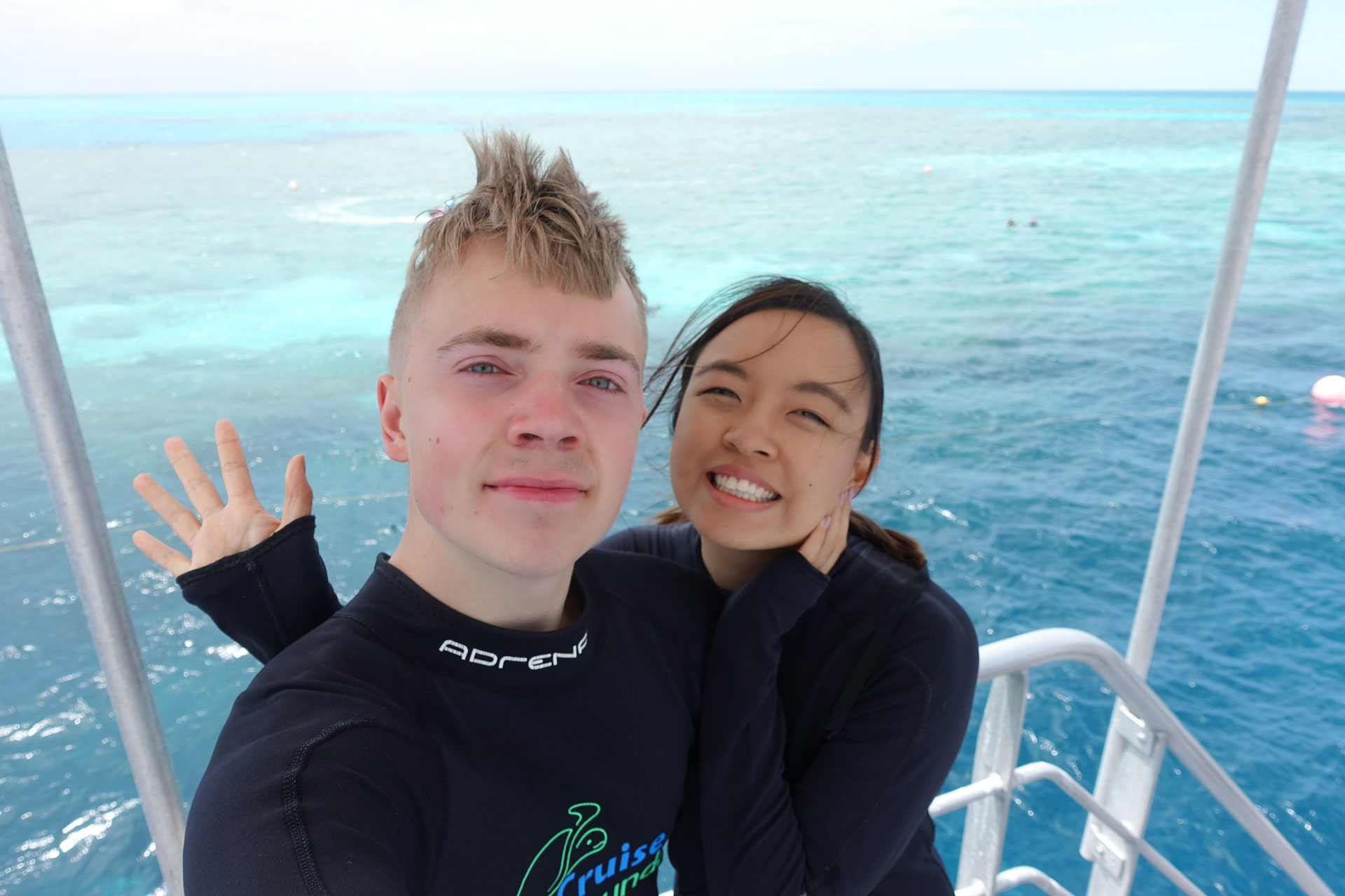 Mattias and Leonie at The Great Barrier Reef