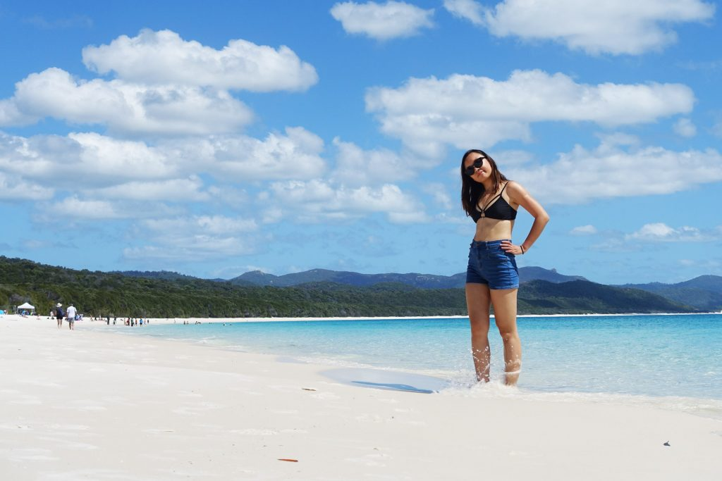 Leonie at Whitehaven Beach