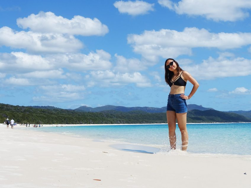 Leonie at Whitehaven Beach
