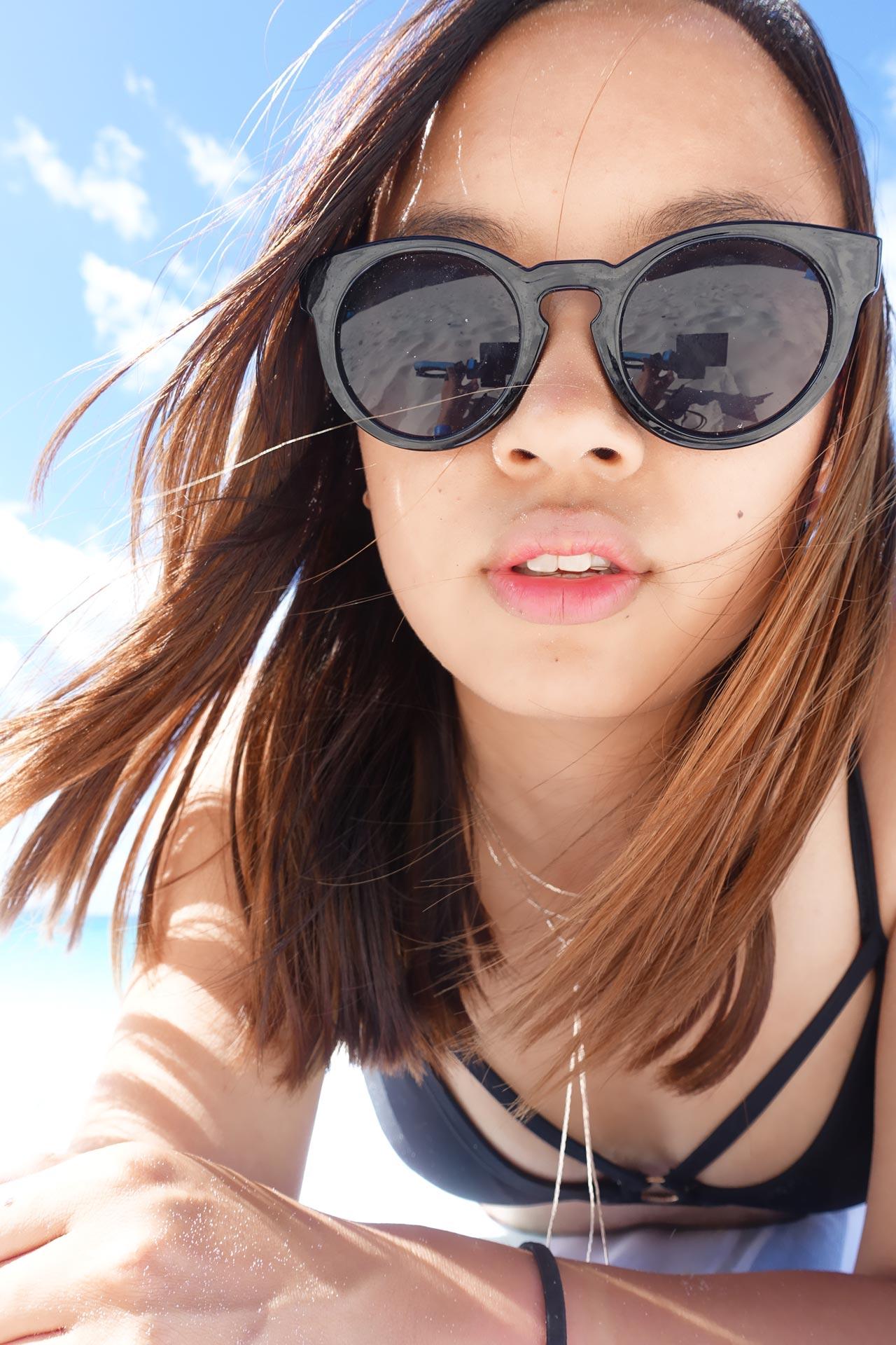 Leonie chilling at Whitehaven Beach