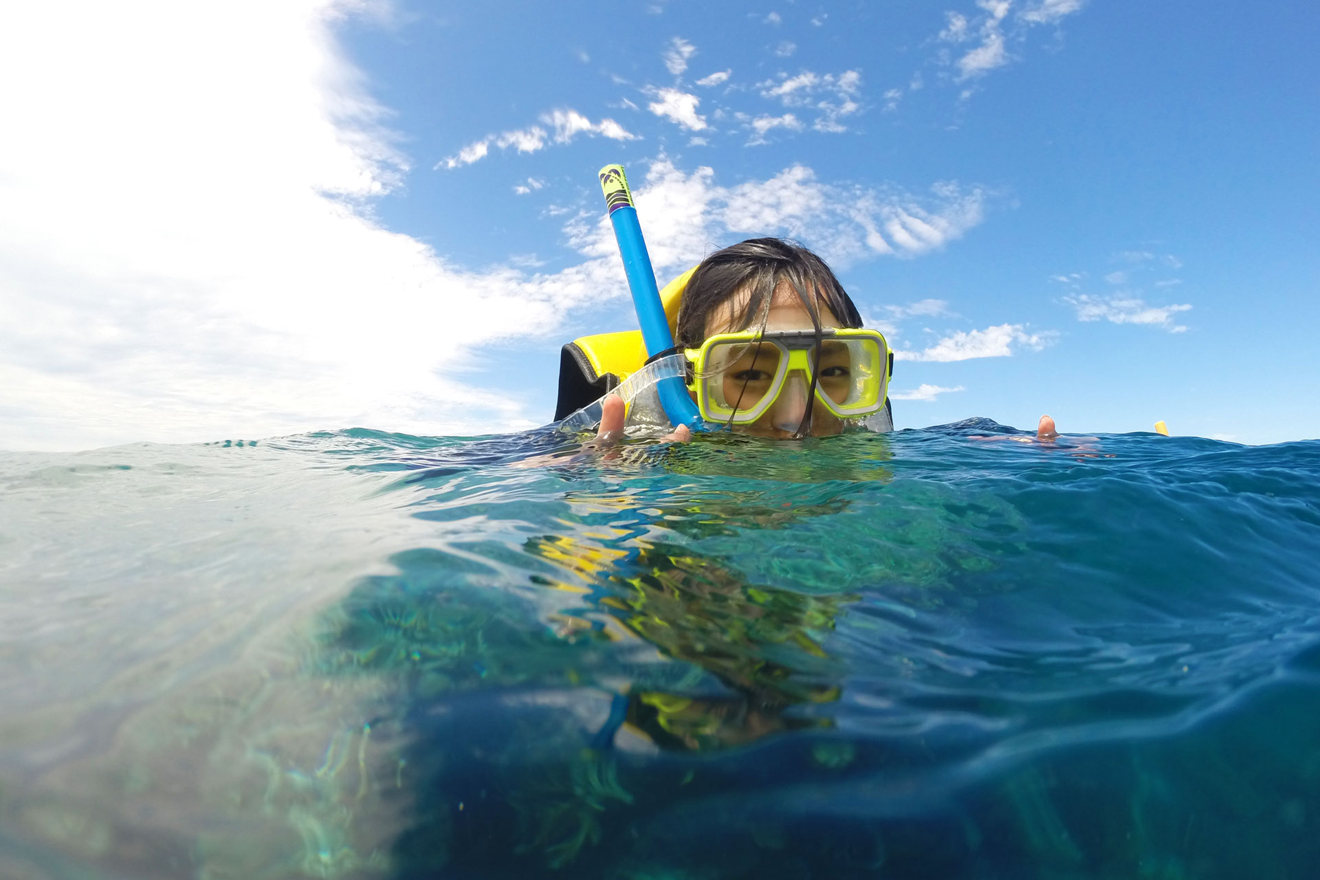 Leonie snorkelling at the Great Barrier Reef