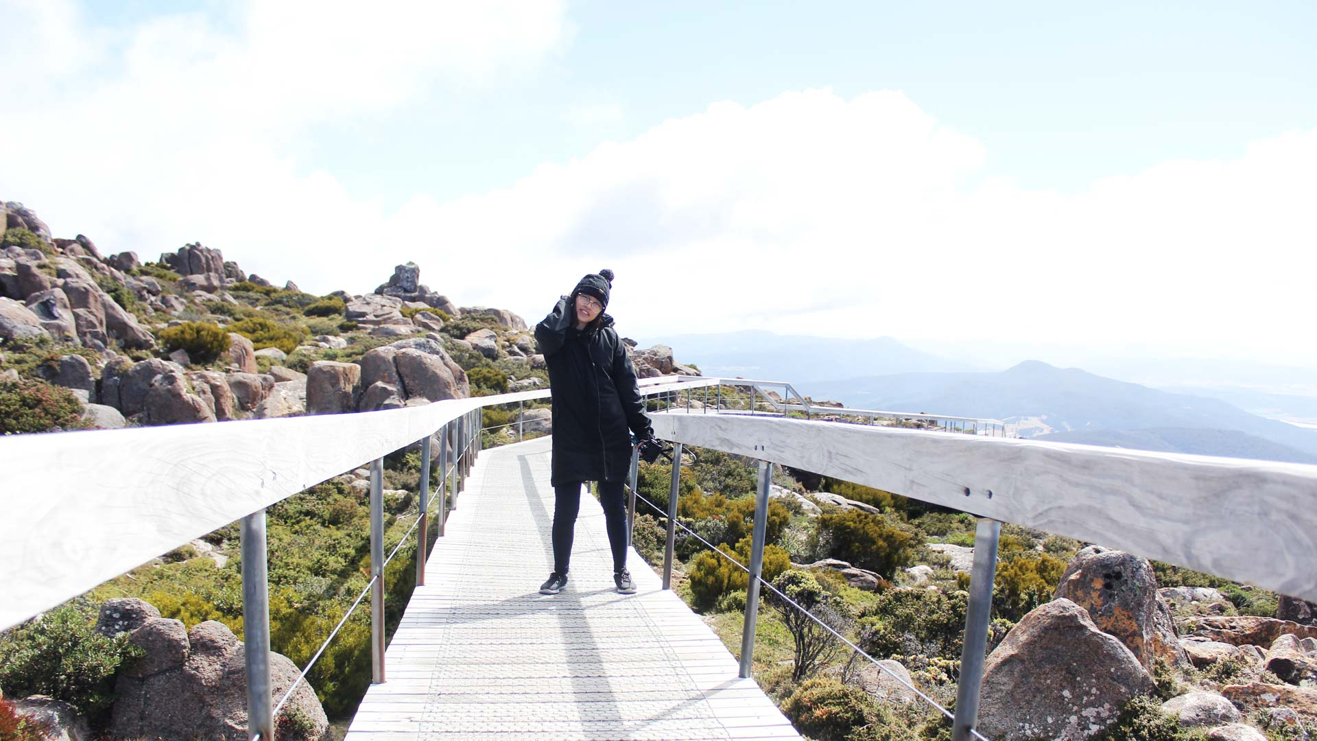 Leonie in Mount Wellington Tasmania Australia