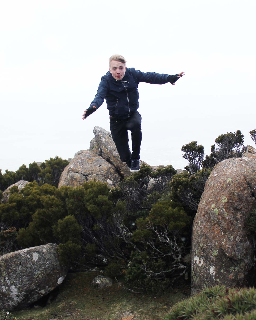 Mattias on Mount Wellington Tasmania