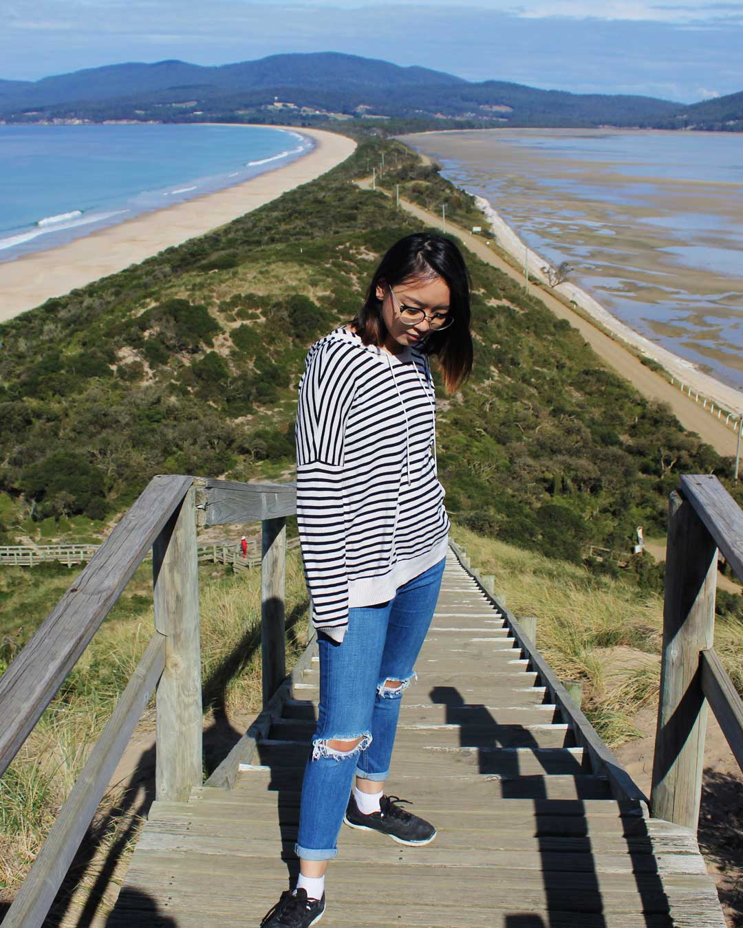 Leonie at The Neck Lookout Bruny Island