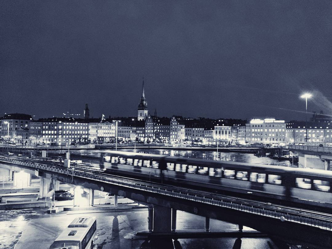 Stockholm Skyline at Night