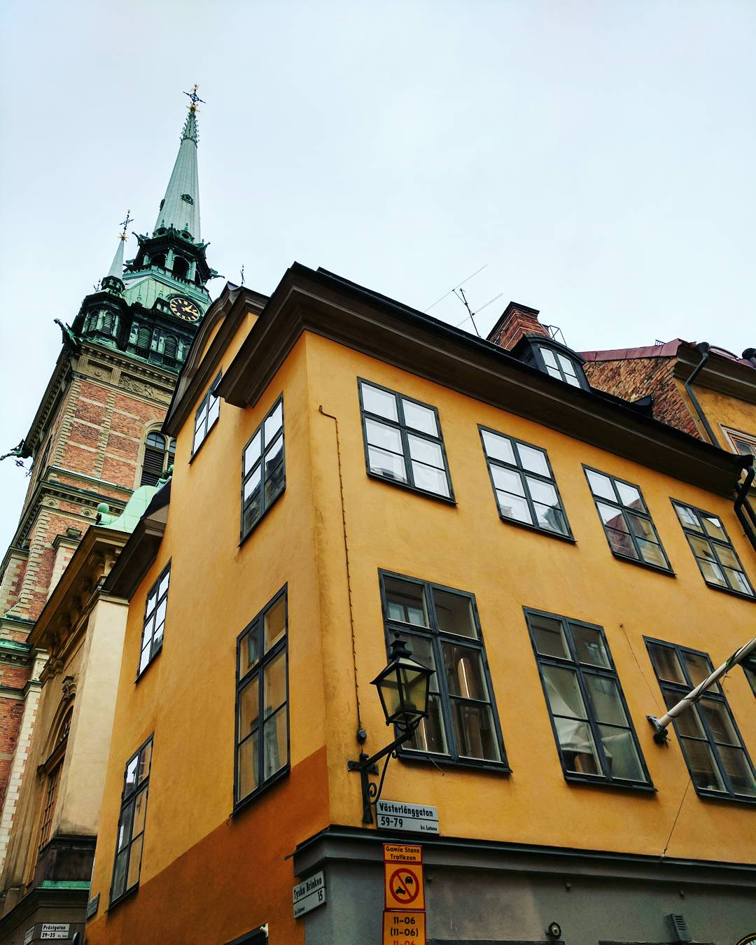 Yellow building in Gamla Stan Stockholm