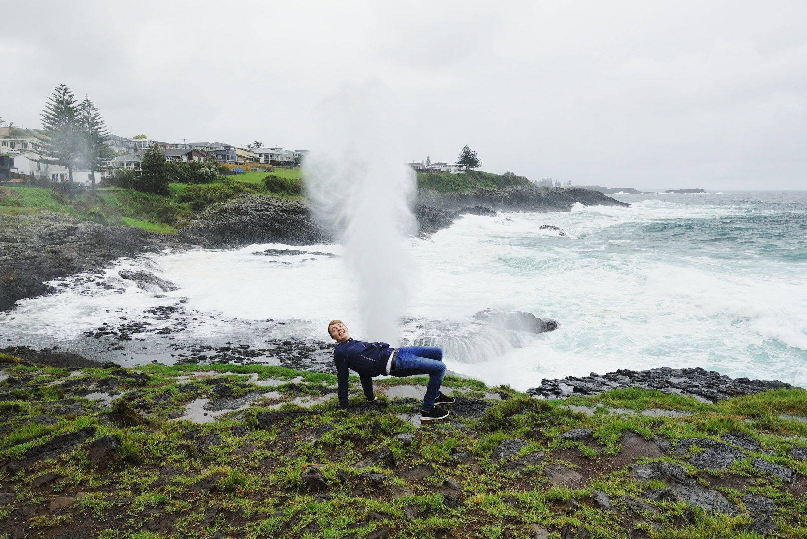 Mattias At The Little Blowhole in Kiama