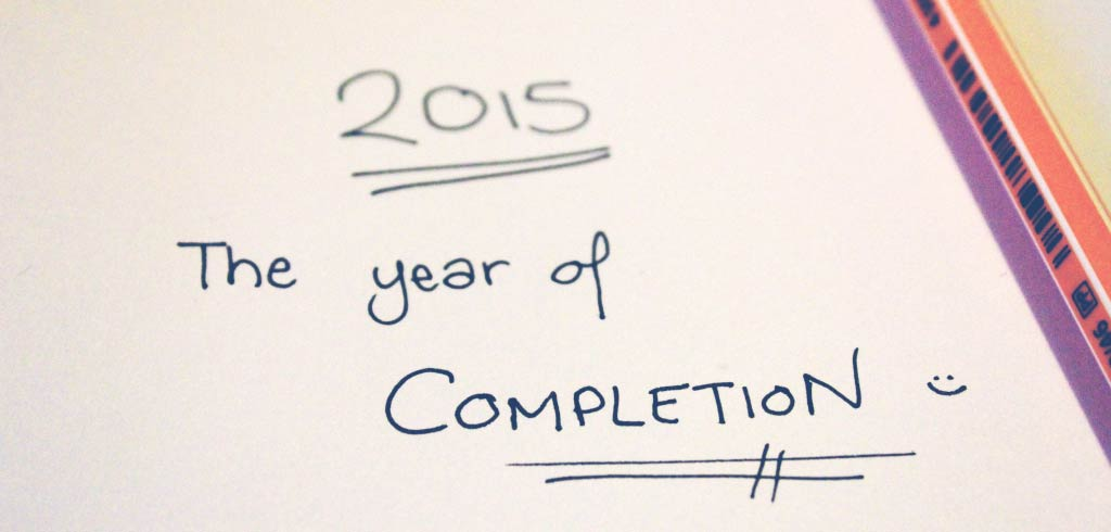 2015, the year of completion