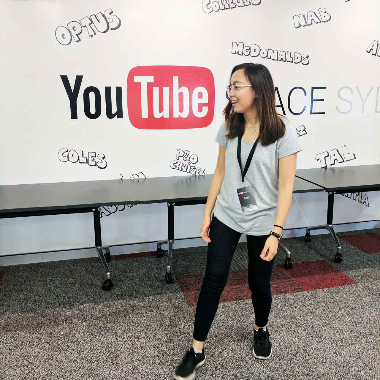 Leonie at YouTube Space in Sydney