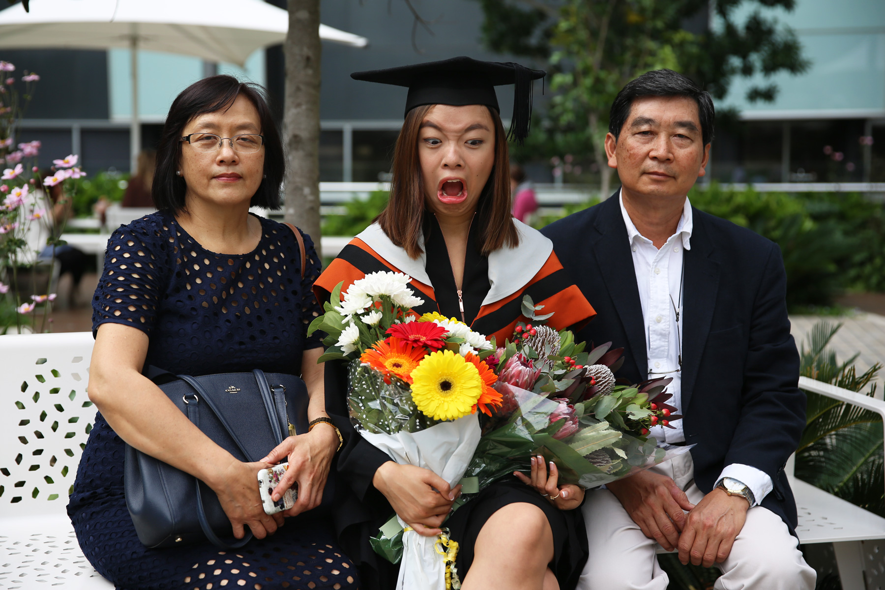 Clearly not impressed at my own graduation...