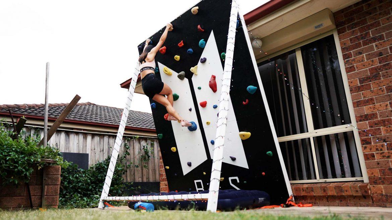 Leonie Sii climbing free-standing adjustable DIY climbing wall BTS-Themed