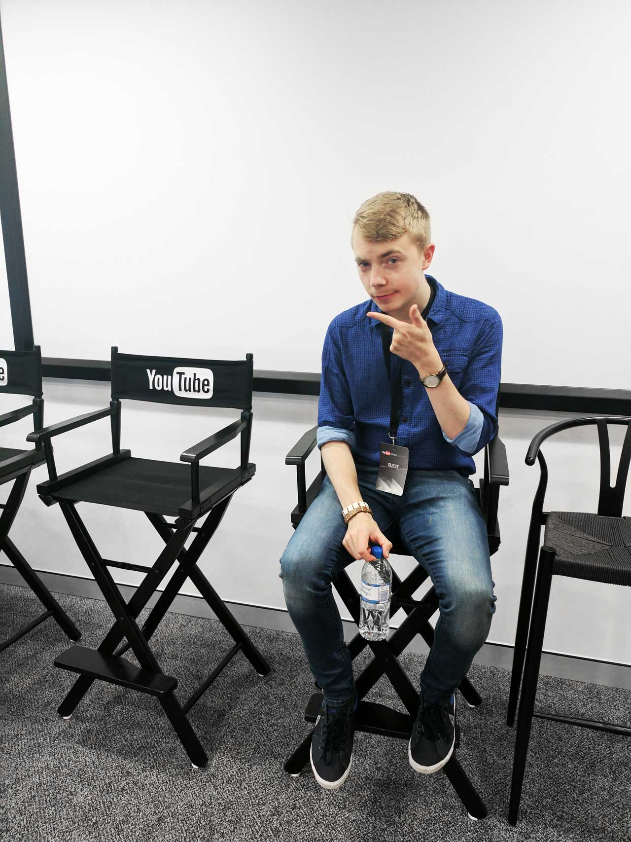 Mattias at YouTube Space in Sydney