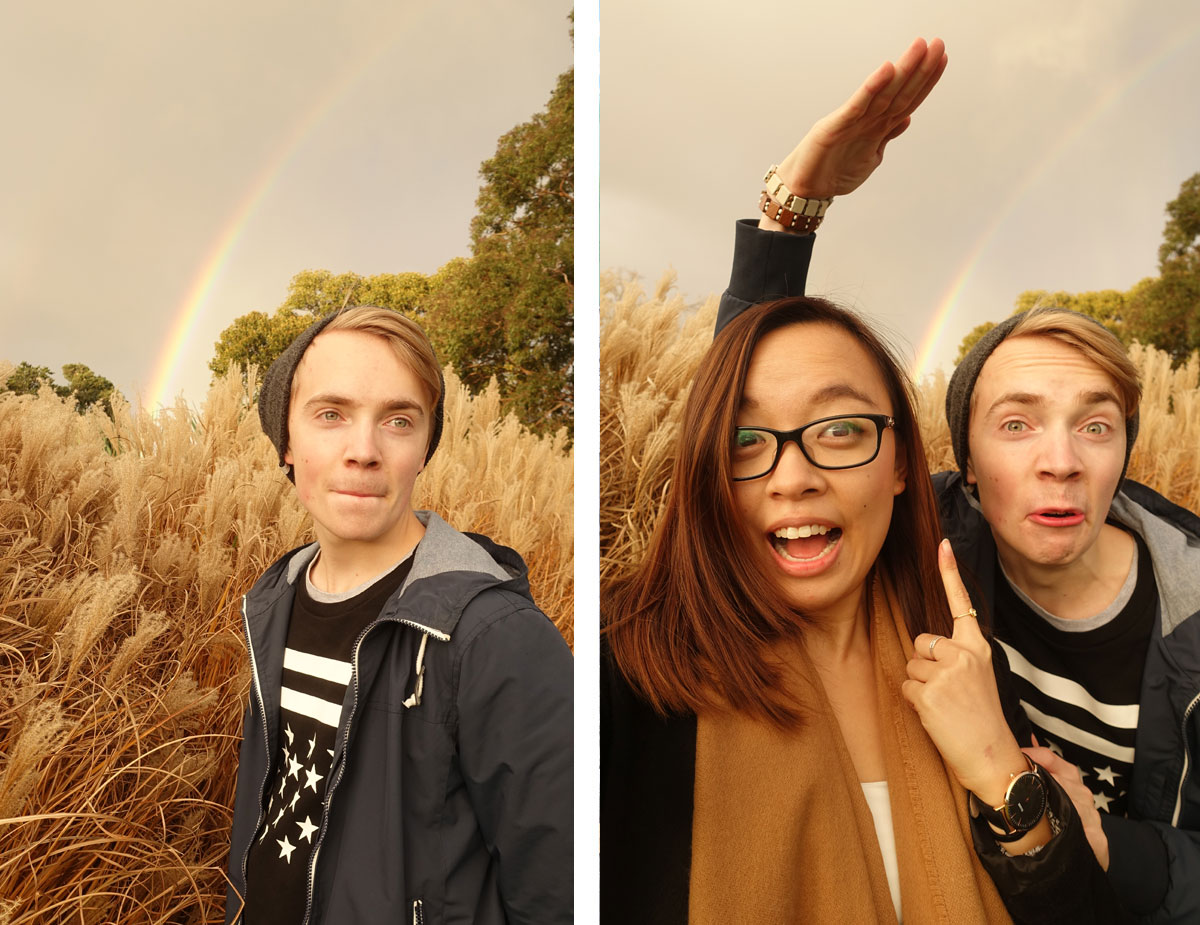 A double rainbow appears in Melbourne!