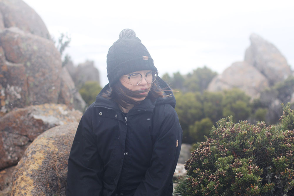 Caught in a blizzard on Mt. Wellington, Tasmania