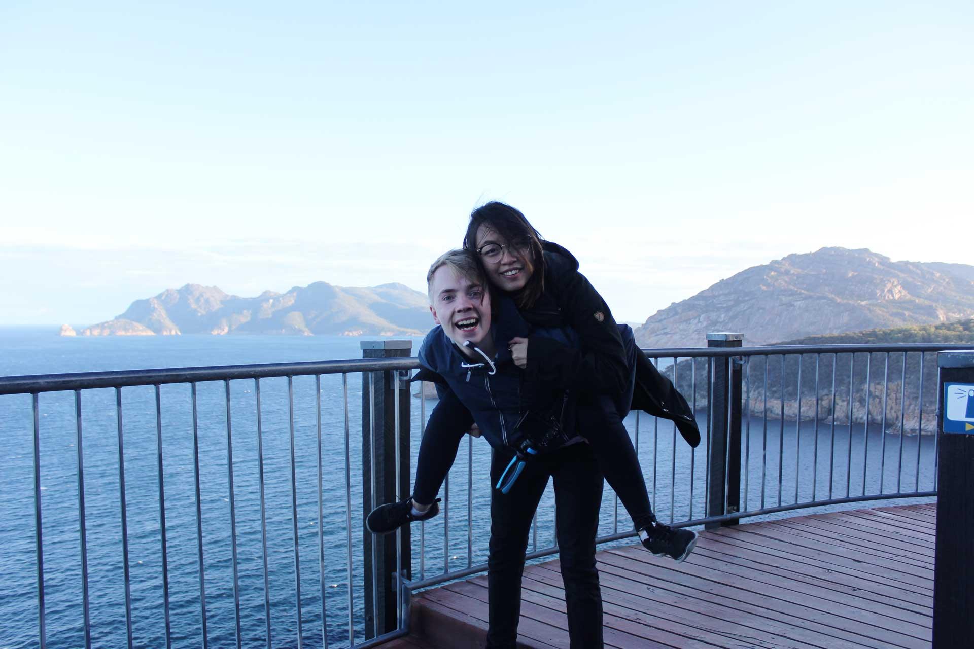 Leonie and Mattias Cape Tourville Lighthouse