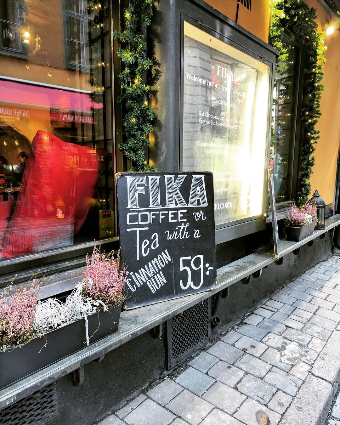 Fika in Stockholm
