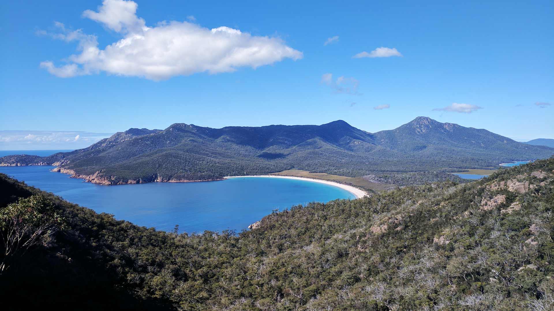 Wineglass Bay Lookout Freycinet National Park Tasmania Australia
